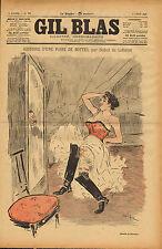 gil blas - stone - lithograph - histoire d'une paire de bottes. laforest  1893