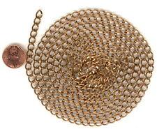 5' LT BRONZE DIAMOND CUT Vintage Charm Chain 7x5m CH112