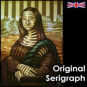 mona lisa gioconda pop art indipendent artist optical painting serigraph canvas