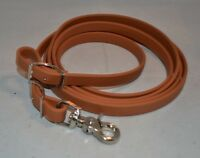 "Rein, Roping - 5/8"" x 8' - Nickel Plated Snap - Tan Biothane (F171)"
