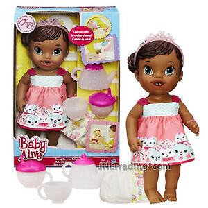 Year 2014 Baby Alive Series 12 Inch Doll Set - Teacup Surprise African American
