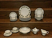 VINTAGE Edwin Knowles HERMITAGE Dinnerware 26-Piece Set Discontinued Made in USA