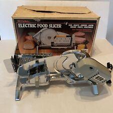 Vintage Rival Electric Meat Deli Food Slicer Model 1101E/5 USA Excellent Chrome