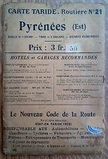 carte Taride Pyrénées Est 1923