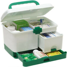 First Aid Medicine Storage Box Tablet Pill Storage Container Tin Medical Box UK