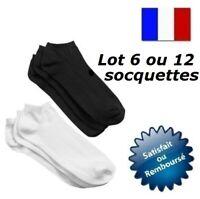 SOCQUETTES FEMME HOMME ENFANT UNI COTON SOCKS POINTE TALON RENFORCE CHAUSSETTES