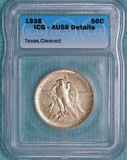 1938-P AU-58 Details Texas Independence Early Commemorative Silver Half