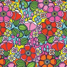 Duck Brand Adhesive Laminate Wallflower Groovy Floral Peel Stick Sheet Roll New