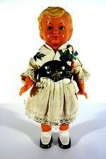 sehr alte Celluloid Zelluloid Puppe Mädchen mit Kleid Trachtenpuppe 16cm