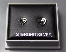 STERLING SILVER 925, STUD EARRINGS, LEAF , BUTTERFLY BACKS,  STUD 200