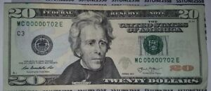 RARE 2013 SUPER LOW 3 DIGIT SERIAL # $20 Twenty Dollar Federal Reserve Note