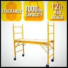 Multi Purpose Scaffold Rolling Stackable Adjustable Platform Work Bench Ladder