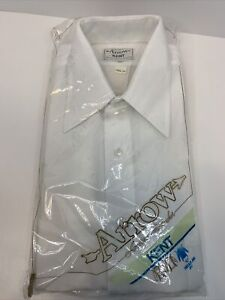 VTG NEW Arrow Kent Button Up Long Sleeve Shirt Mens Size 16 1/2-34 White