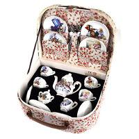 Alice in Wonderland Porcelain Tea Set and Rose Basket Hamper