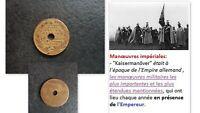 Médaille 1886 KAISERMANOVER en présence de l'Empereur GUILLAUME I° à Strasbourg