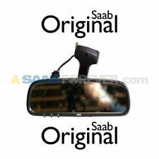 SAAB 9-3 9-5 Rear View Mirror AUTO DIM HOMELINK COMPASS GENUINE OEM 12789847