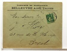 SA200     TYPE SAGE SUR LETTRE ANCIENNE OBLITERATION GARE  GARE  19°SIECLE