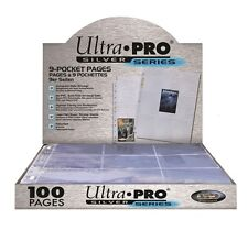 ULTRA PRO SILVER SERIES 9 POCKET CARD SLEEVES SEALED BOX 100 PAGES AFL POKEMON