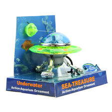 Decor UFO Aquarium Action-Air Effect Decoration Underwater Fish Tank Ornament