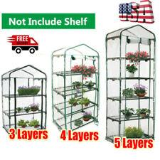 2/3/4/5 Tier Mini Greenhouse Frame Green House Garden Outdoor Plants Growing UK*