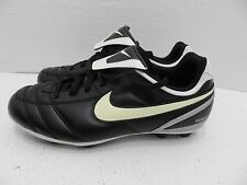 Nike Tiempo Versatract Soccer Youth Cleats Sports Shoe Black/Silver/White 3.5y