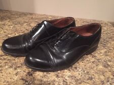 Mens Bostonian Classics First Flex Black Leather Oxfords Shoes 8 W Cap Toe 8W