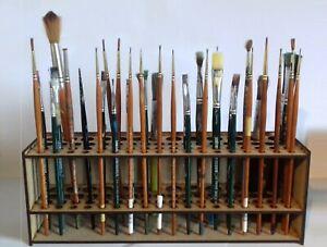 Brush Holder paintbrush holder stand 67 Paint brushes Wall mount or Freestanding