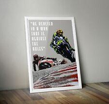 More details for valentino rossi marc marquez poster print. motogp motorsport a4 a3 a2 wall art