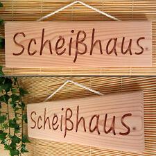Scheißhaus - schönes Dekoschild, Holzschild, Scherz Schild für Toilette, Bad, WC