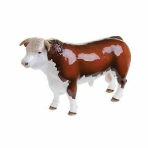 BESWICK Ceramic Farmyard Animals  - HEREFORD BULL - Horned