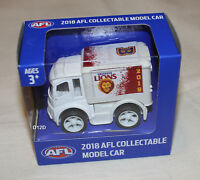 Brisbane Lions 2018 AFL Official Supporter Collectable Mini Truck Model New