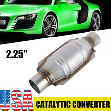 "Universal High-Flow Catalytic Converter Oval 2.25"" In/Out 9"" Body"