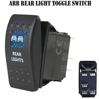 12V 20A Bar ARB Carling Rocker Toggle Switch Blue LED Car Boat Rear Light AL