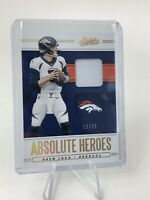 DREW LOCK 2020 Absolute Football Absolute Heroes Patch SP GOLD # /25