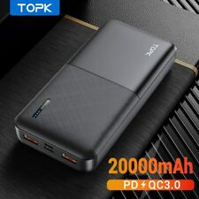 NEW Power Bank 20000mAh Portable Charger USB Type C PD 3.0 Quick Charge 3.0