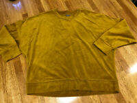 Aerie Top Lot Long Sleeve Large Velour Sweatshirt Fall Back To School Cozy Two