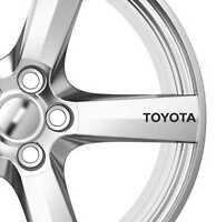 6 x Toyota Alloy Wheels Decals Stickers Adhesives Premium Quality Corolla Supra