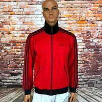 Men's Adidas Originals Firebird Track Retro Europa Jacket Red Black Size M