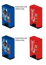 Lego custom soda pop vending machine 10218 10224 10185 10182 stickers