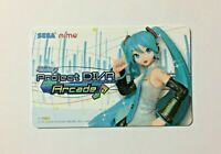 NEW Hatsune Miku Project Diva Arcade Aime Card JAPAN Out-of-print Design import