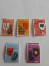 1965 INDONESIA POSTAGE STAMPS THE STATES FIVE PRINCIPALS & 20th ANNIVERSARY USED