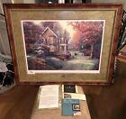 """Victorian Autumn"" Signed Thomas Kinkade 18x27 Print (1326/2450) Framed w/ COA"