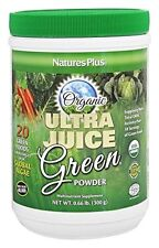 Natures Plus Ultra Juice Green Organic Powder .66 lb 30 Servings