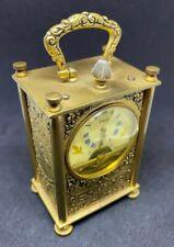 New ListingVintage Circle Clock Corp 8 Days Hebdomas Swiss Carriage Clock - See Description