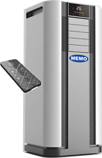 Mobile Klimaanlage 9000 BTU 2,6kW 4in1 Kühlen Heizen Luftentfeuchter Ventilator