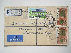 1965 MALAWI REGISTERED COVER FORT JOHNSTON