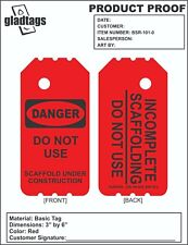 """6"""" Red Danger Scaffold Tags (25 Per Pack)"""