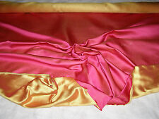 "VINTAGE SCALAMANDRE FABRIC - SOLD BY YARD - ""2-TONE SATIN""-100% SILK- HAND-WOVEN"