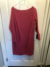 Ingrid & Isabel Maternity Long Sleeve Party Stretch Lace Dress Medium Berry Pink