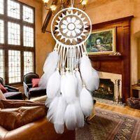 Weiß Traumfänger Federn Wandbehang Dekoration Dreamcatcher Ornament Geschenk